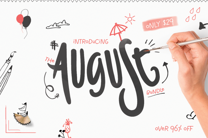 august graphics and fonts